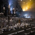 ziegelei101 Loft 7 Reihenbestuhlung Bankett event festlich gedeckt Weihnachtsfeier Meeting Präsentation Bühne