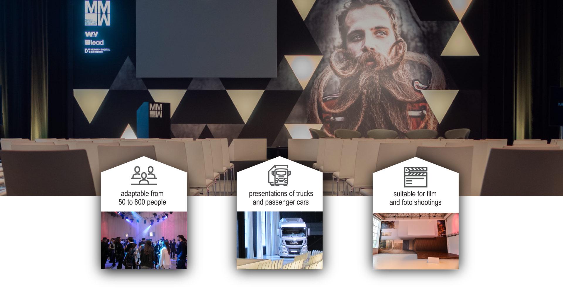 ziegelei101 innenansicht Loft 7 presentation stage event kick off truck shooting setting